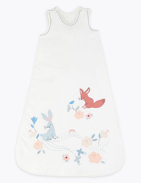 Pure Cotton 2.5 Tog Animal Print Sleeping Bag