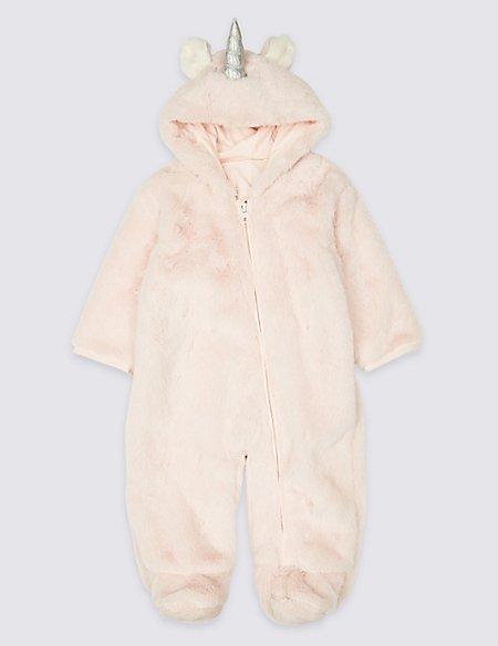 Pure Cotton Unicorn Pramsuit