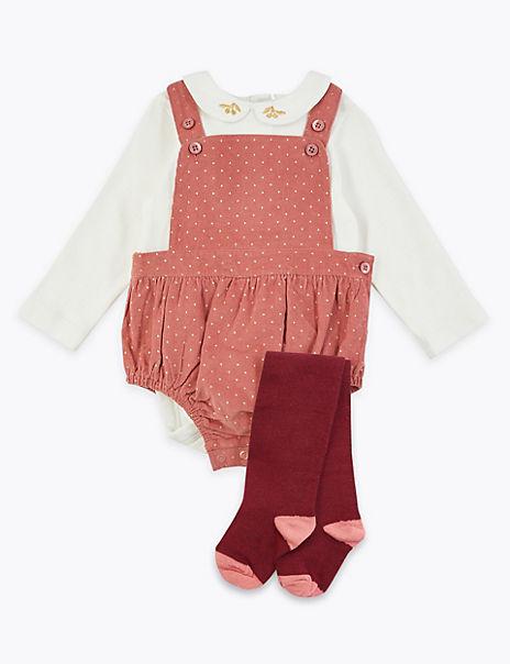 3 Piece Cord Romper & Bodysuit Outfit