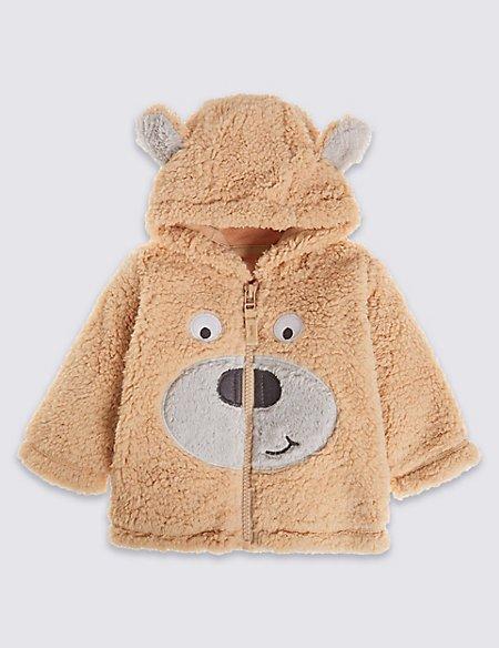 Bear Hooded Fleece Top
