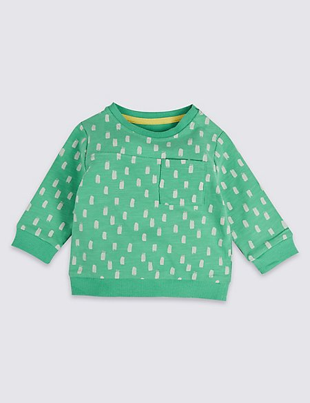 Pure Cotton Printed Baby Jumper