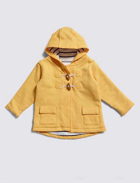Pure Cotton Fisherman Hooded Sweatshirt
