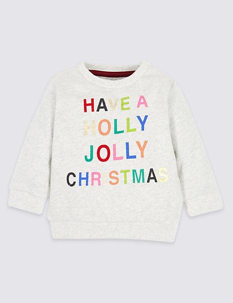 Pure Cotton Christmas Sweatshirt