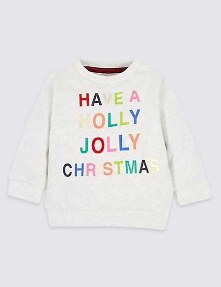 Pure Cotton Christmas Sweatshirt