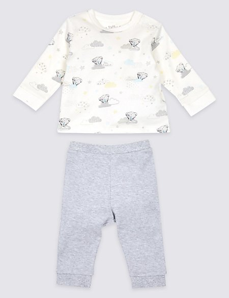 2 Piece Pure Cotton Printed Top & Bottom Outfit