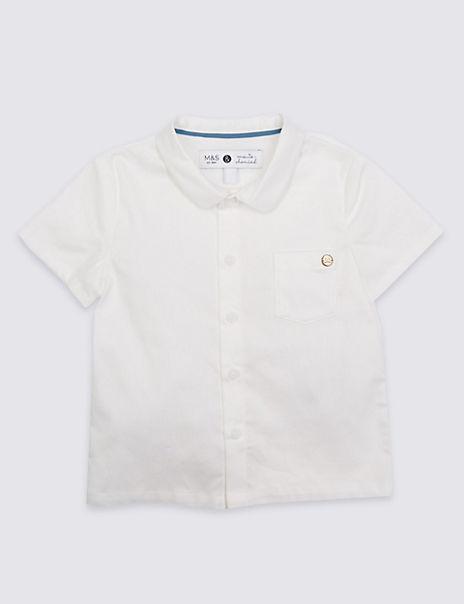 Boys Textured Woven Shirt (3 Months - 5 Years)