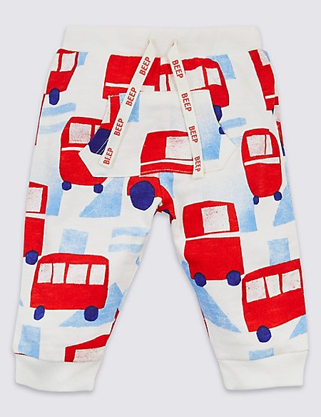 Pure Cotton All Over Car Print Joggers