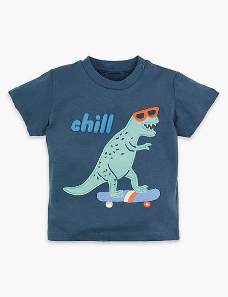 Cotton Dinosaur T-Shirt (0-3 Yrs)