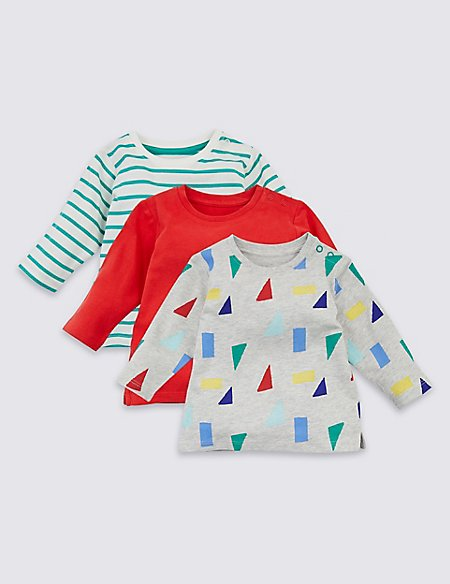 3 Pack Organic Cotton All Over Print Tops