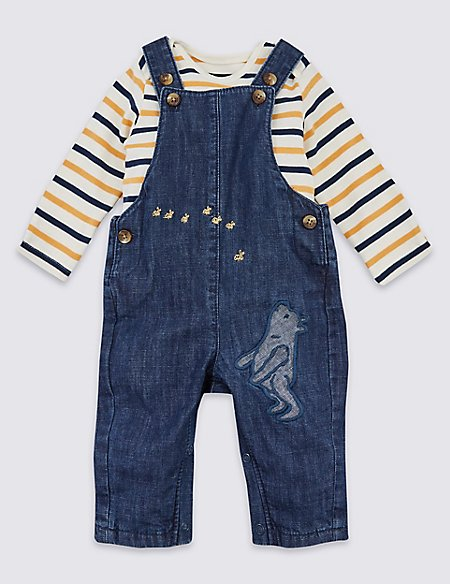 Winnie the Pooh & Friends™ Dungarees & Bodysuit