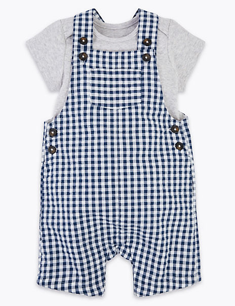 2 Piece Pure Cotton Gingham Outfit (0-3 Years)