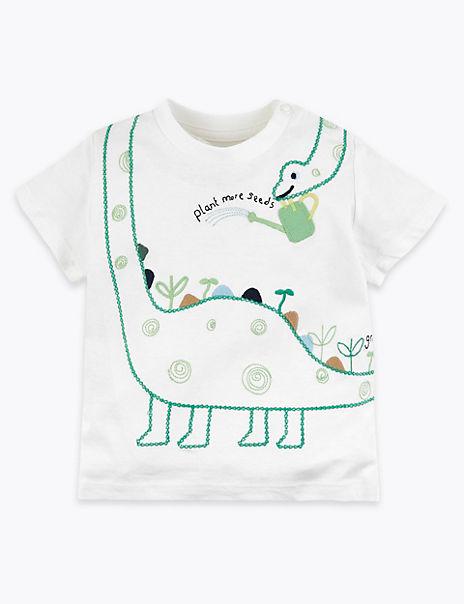 Cotton Animal Print T-Shirt (0-3 Years)