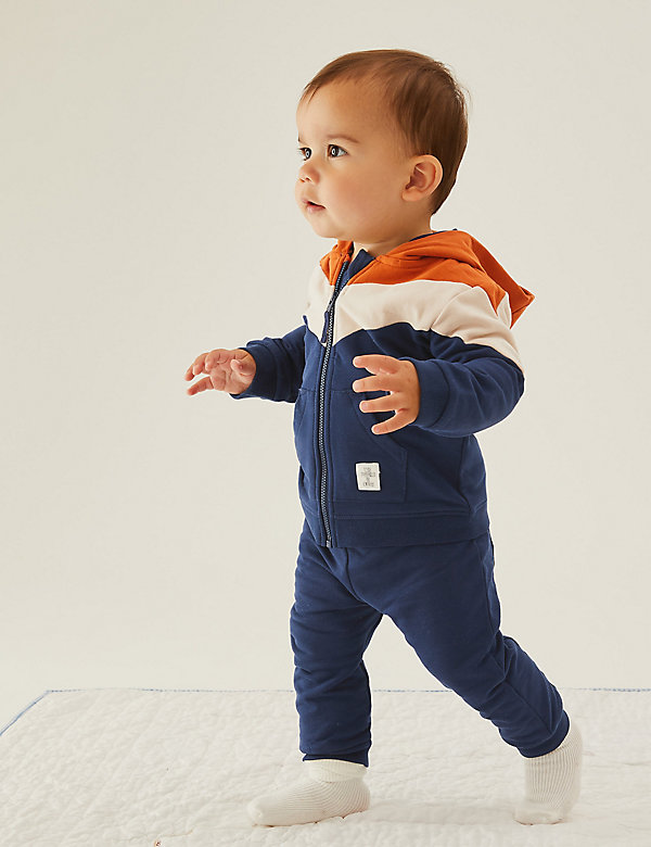 2pc Cotton Hooded Outfit (0-3 Yrs)