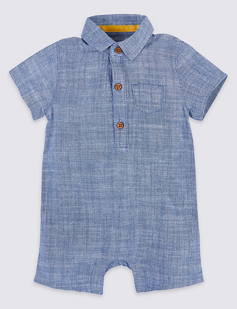 Pure Cotton Chambray Romper