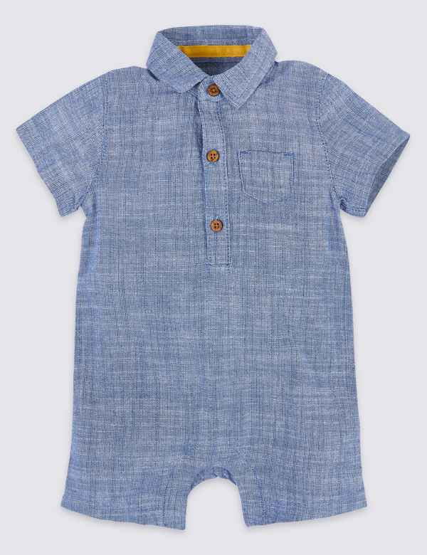 ee826b24c61c Pure Cotton Chambray Romper