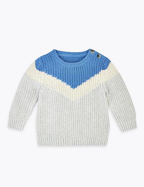 Cotton V Knit Jumper