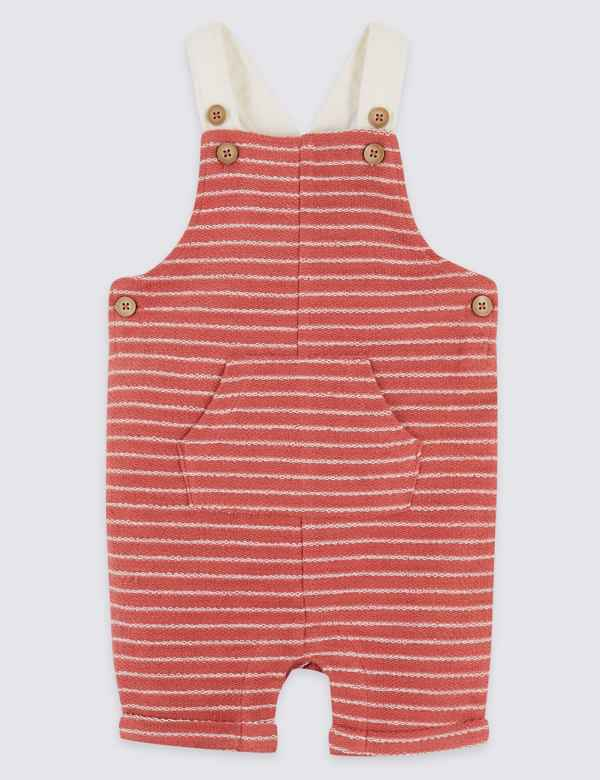 4ae073194bd9 Pure Cotton Striped Dungarees