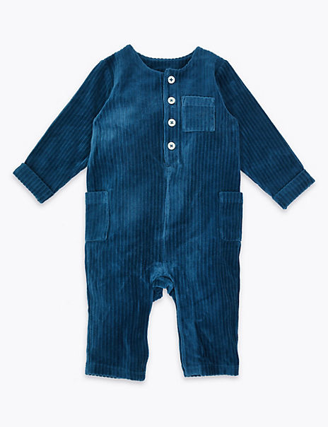 Cotton Rich Cord Velour All In One