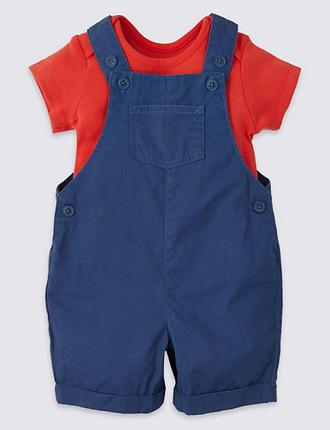 2 Piece Dungarees with Bodysuit