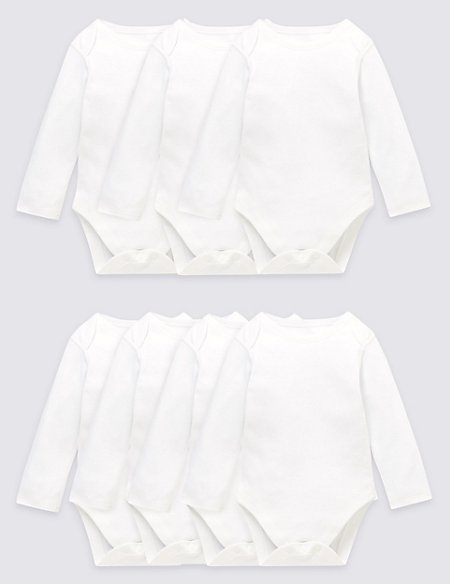 7 Pack Long Sleeve Bodysuits