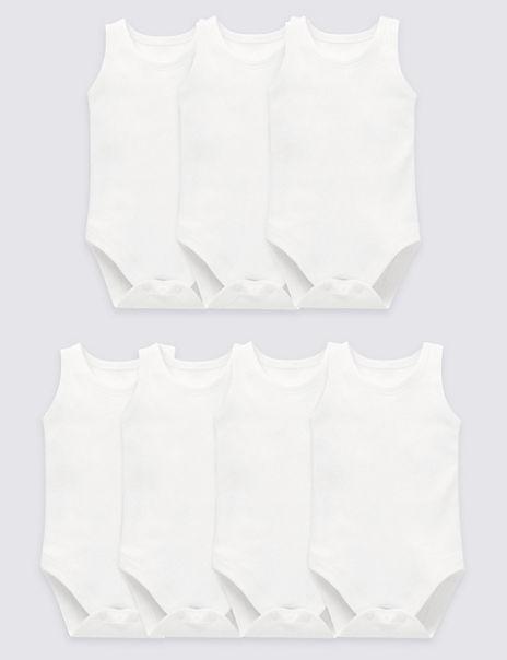 7 Pack Sleeveless Bodysuits