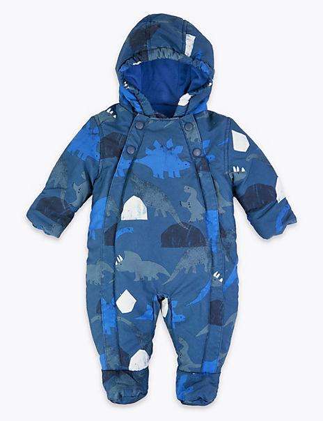 Dinosaur Print Snowsuit