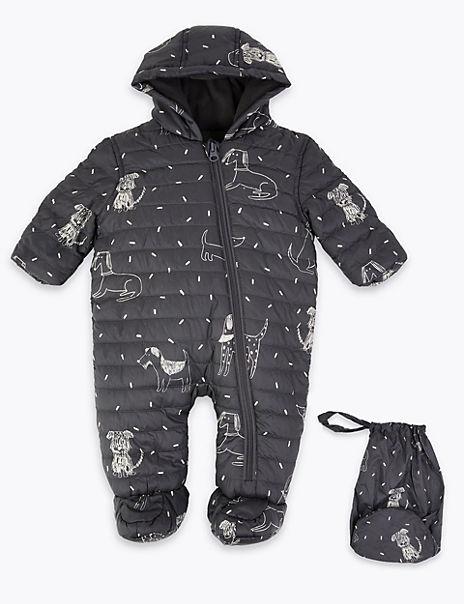 Animal Print Packaway Snowsuit