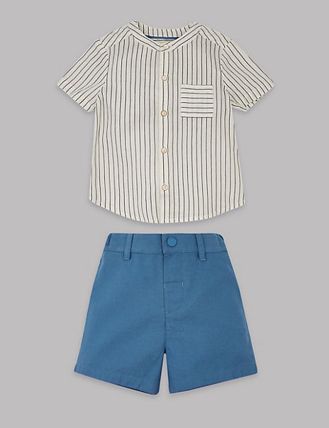 2 Piece Shirt & Shorts Outfit