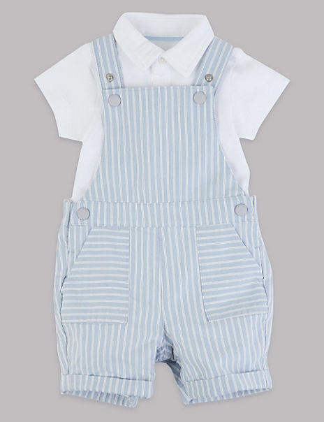2 Piece Dungarees with Bodysuit Outfit