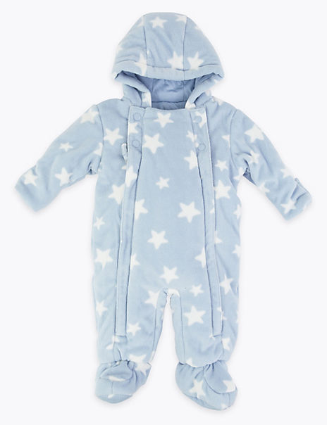 Fleece Star Print Pramsuit
