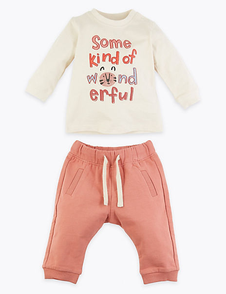 2 Piece Wonderful Slogan Outfit