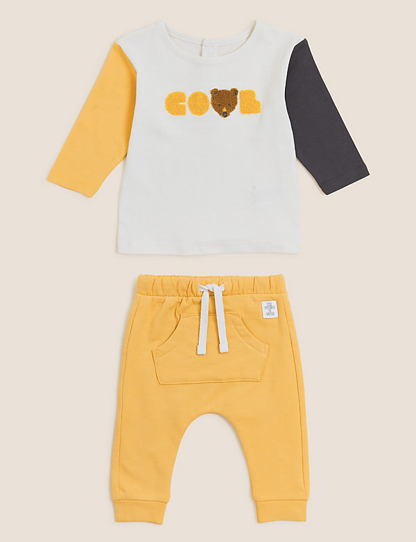 2pc Cotton Cool Slogan Outfit (0-3 Yrs)