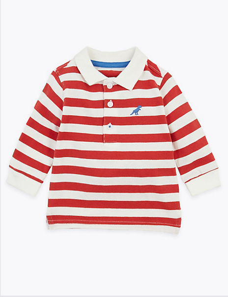 Cotton Striped Polo Shirt