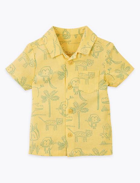 Pure Cotton Animal Shirt (0-3 Years)
