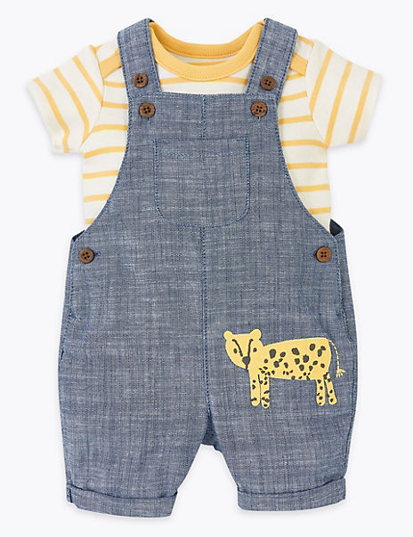 2 Piece Pure Cotton Animal Outfit (0-3 Years)