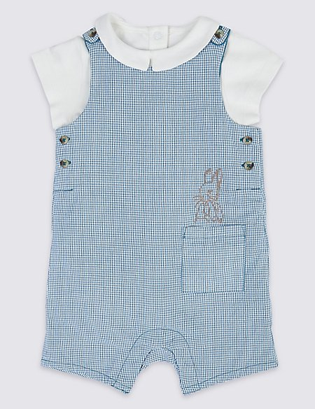 2 Piece Peter Rabbit™ Dungarees with Bodysuit
