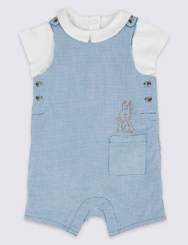 3c34dd34b351 2 Piece Peter Rabbit™ Dungarees with Bodysuit