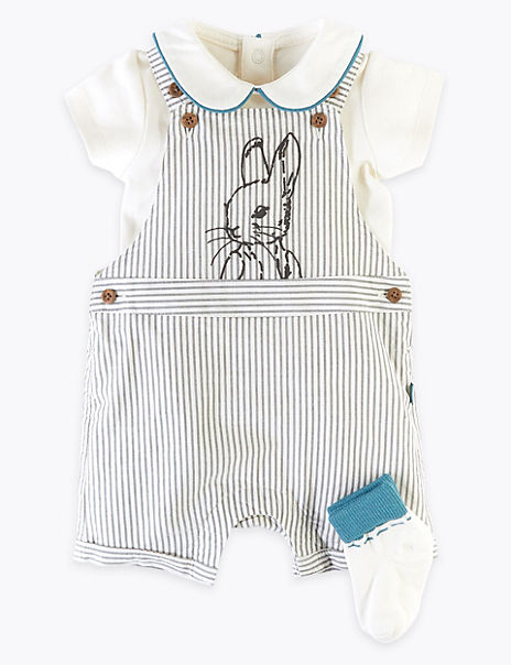 3 Piece Cotton Rich Peter Rabbit™ Outfit (0-3 Yrs)