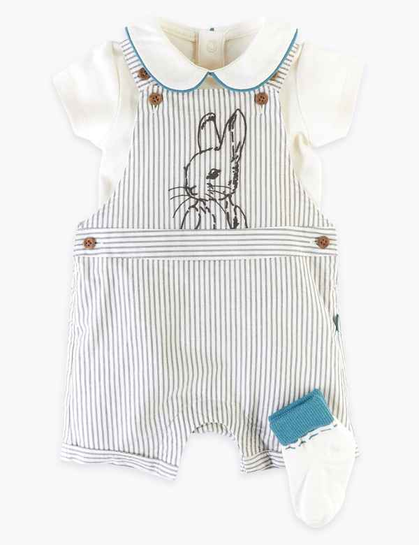 Peter Rabbit 3 Piece Set Outfit Newborn Up To 1 Month Boys