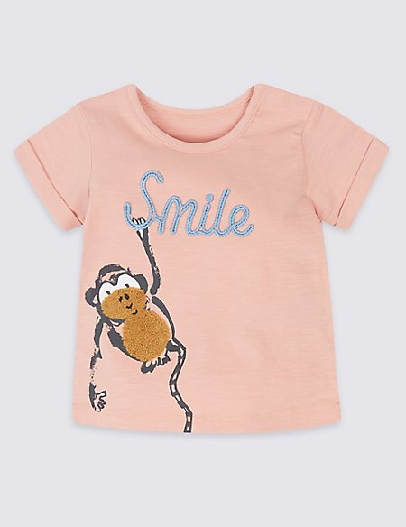Pure Cotton Monkey T-Shirt