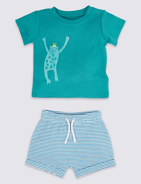 2 Piece T-Shirt & Shorts Outfit