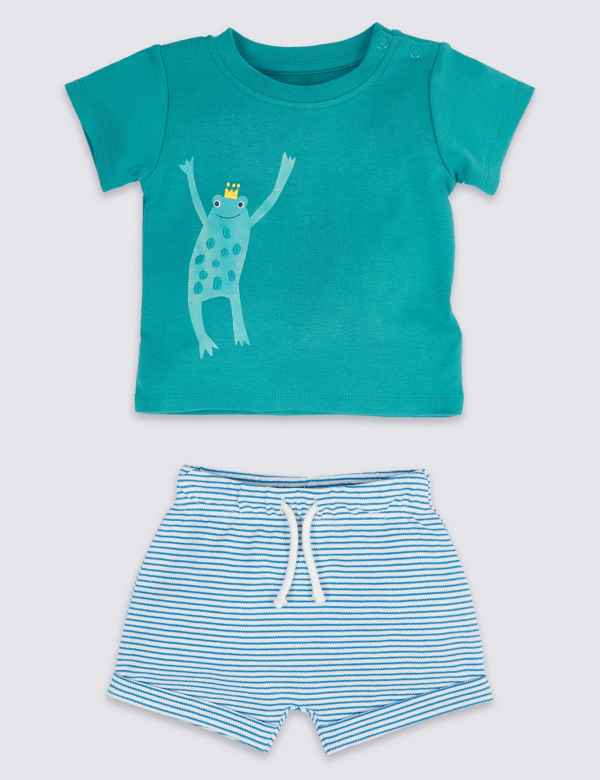 a0d1b7a4bb01a 2 Piece T-Shirt   Shorts Outfit