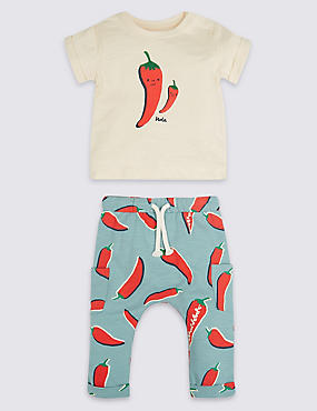 2 Piece Chilli Jersey Top & Joggers Outfit