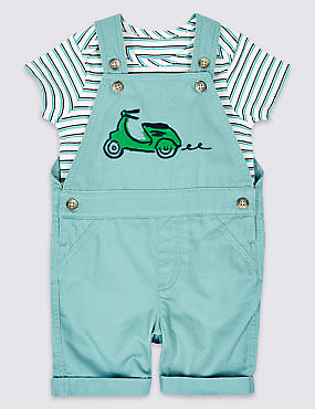 2 Piece Dungarees & Bodysuit Outfit