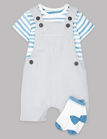 3 Piece Bodysuit & Bib Shorts with Socks