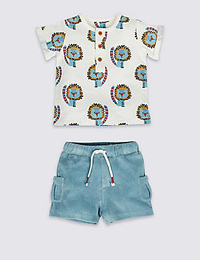 2 Piece Top & Shorts Outfit