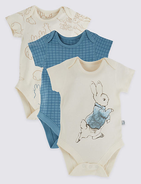 3 Pack Cotton Patterned Bodysuits