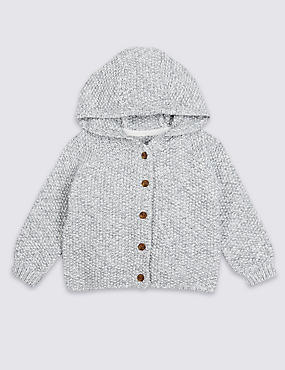 Pure Cotton Twist Chunky Cardigan
