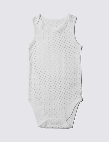 Pure Cotton Sleeveless Bodysuit (3-8 Years)