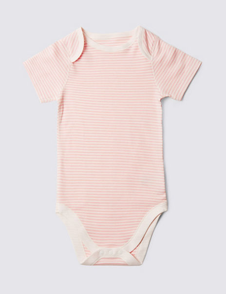 Easy Dressing Pure Cotton Striped Bodysuit (3-8 Years)